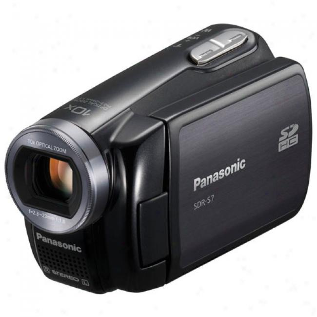 Panasonic Sdr-s7 Blakc Momentary blaze Memory Sd Camcorder, Shock-resistant, 10x Optical Zoom, 2.7