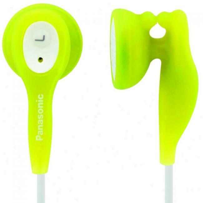 Panasonic Stereo Earbud Headphones, Rp-hv21 Green