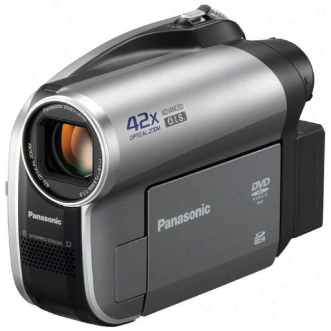 Panasonic Vdr-d50 Dvd Camcorder With 42x Optical Zoom, Records To 8cm Dvd And Sd Card
