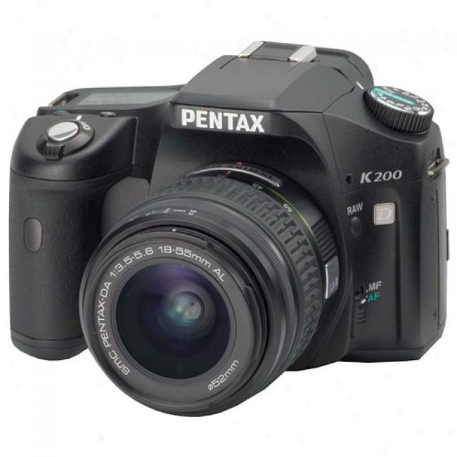 Pentax K200d 10.2mp Digital Slr Camera Kit W/ 18-55mm Lens