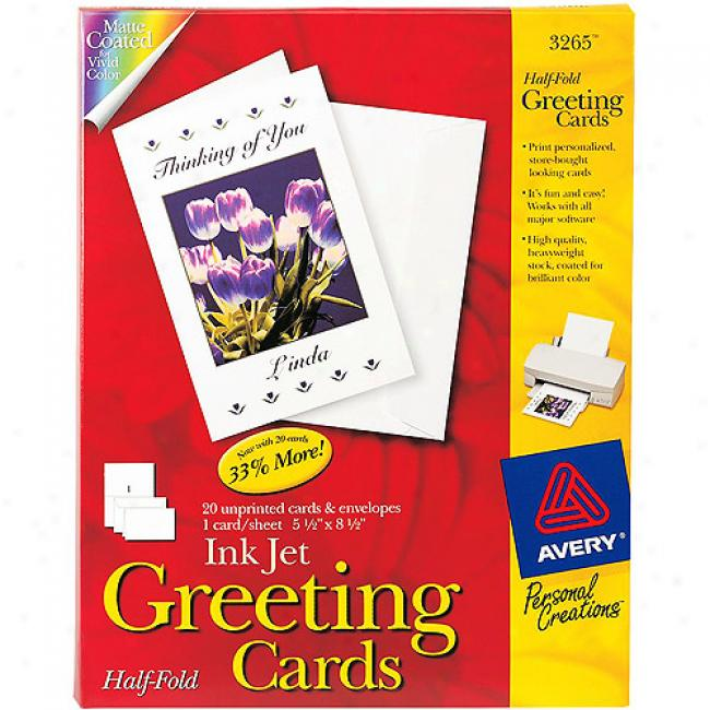 Personal Creations Greeting Inkjet Cards, 20-pack