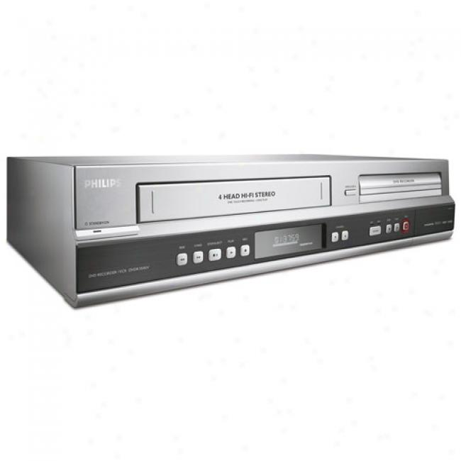 Philips 1080o Upconvert Dvd Recorder Combo W/ Direct Dubbing, Vcr Combo