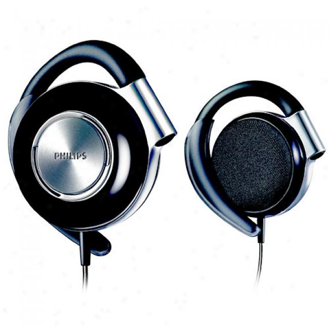 Philips Adjustable Earclip Headphones, Shs4700