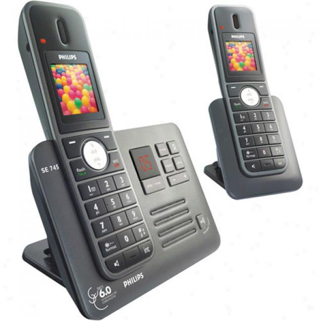 Phillps Dect 6.0 Enhanced High-definition Cordless Phone Order, Duual Handset