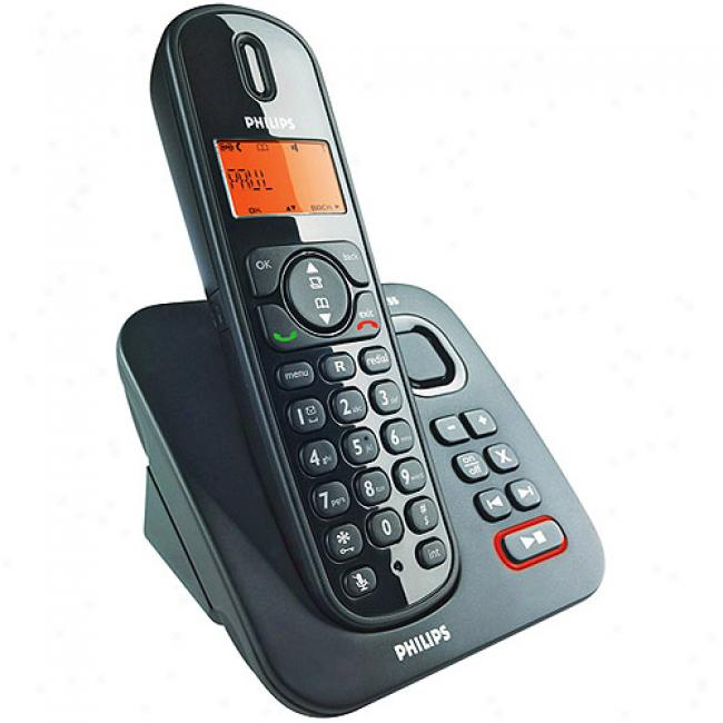 Philips Dect Cordless Phone With Dibital Answering System - 1 Handset