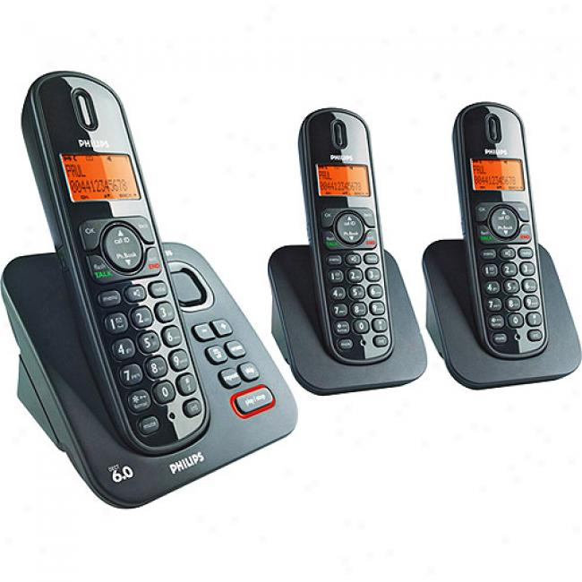 Philips Dect Cordless Phone With Digital Anwering System - And Handsets