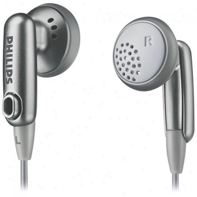 Philips Earbud Headphones, Silver