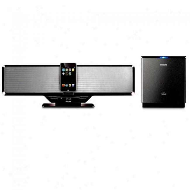 Philips Entertainment System With Wireless Subwoofer And Ipod Dock