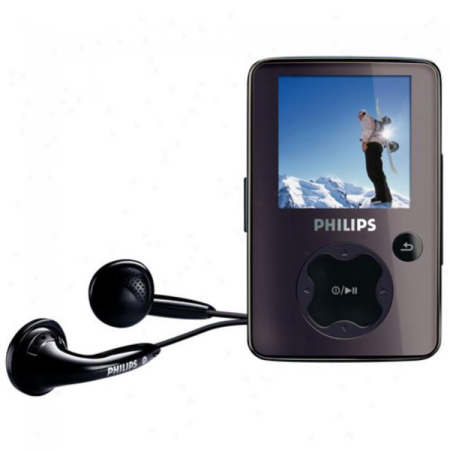 Philips Gogear 2gb Mp3 Video Player, Black