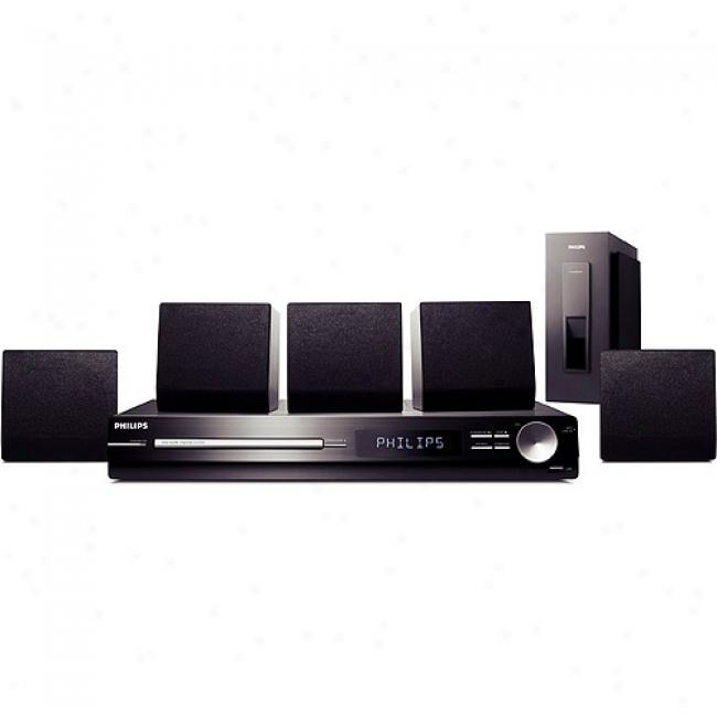 Philips Home Theater Audio System W/ Dvd Player & Ipod Shorten, Hts3151d
