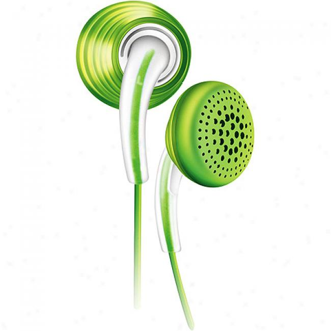 Philips In-ear Bubbles Headphones - Green, She3621/27