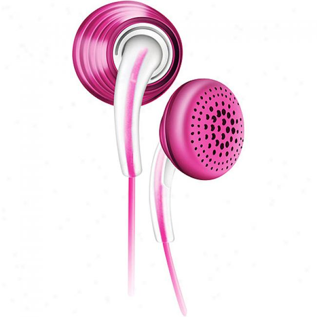 Philips In-ear Bubbles Headphones - Pink, She3620/27