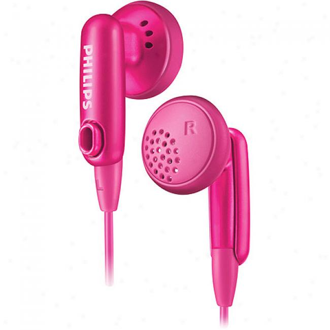 Philips In-ear Color-match Headphnes - Pink, She2636/27