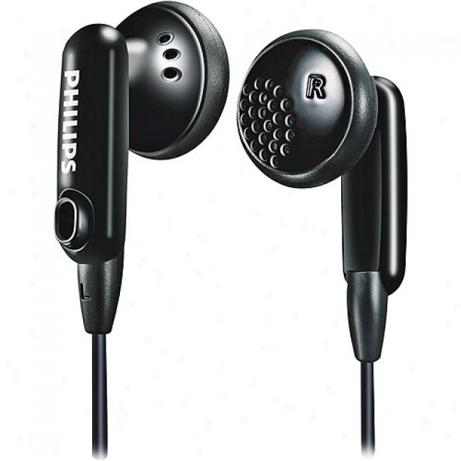 Philips In-ear Color-match Headphones - Black, She2634/27