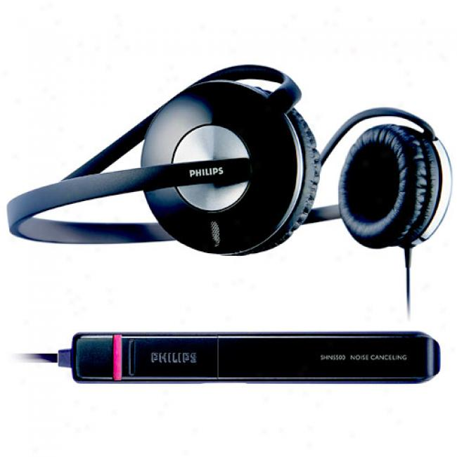 Philips Noise-canceling Behind The Neck Headphones, Shn5500/37