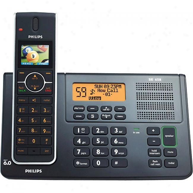 Philips Se6 Series Cordless Phone With Digitzl Answering Machine And Single Handset