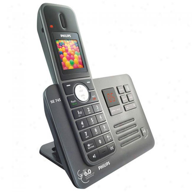 Philips Se7 Series Cordless Telephone By the side of Color Lcd, Caller Id And Answering Machine - 1 Handset