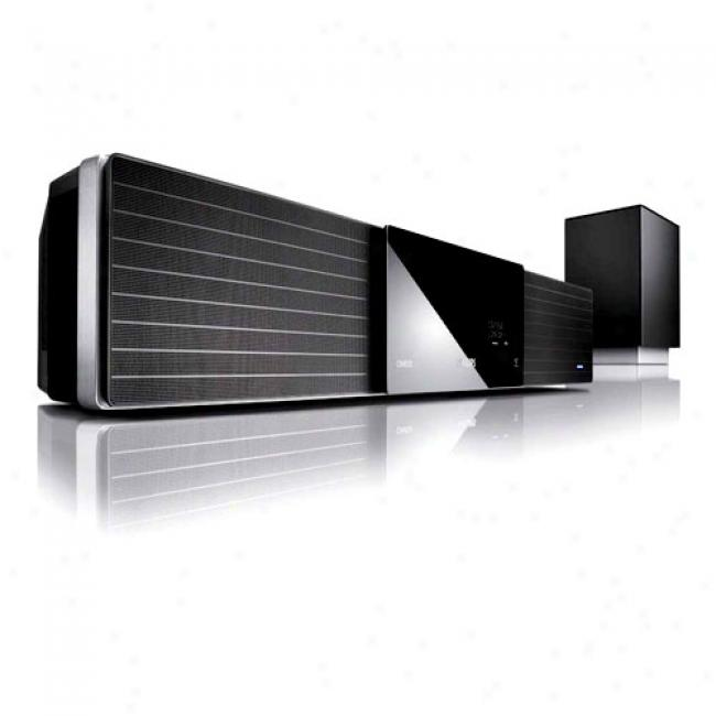 Philips Spund Bar 2.1-channel Home Theater Audio System W/ Up-converting Dvd Player, Hts8100
