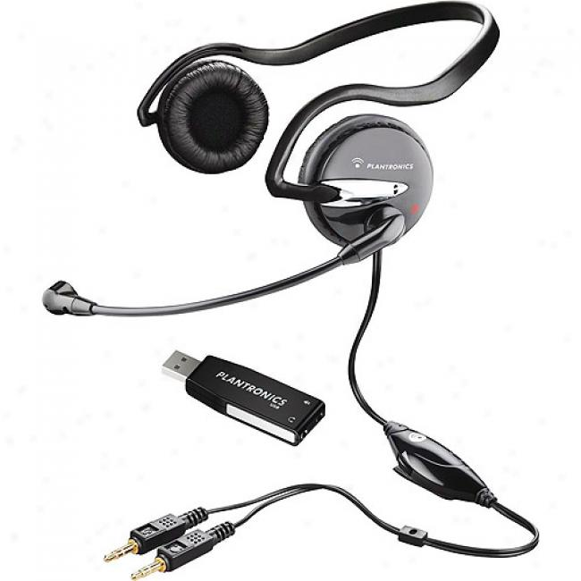 Plantronics Audio Usb Behind-the-head Stsreo Headset