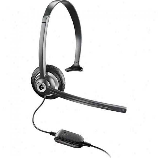 Plantronics Expressive Headset With In-line Volume Control - Without Voip And Usb Adapter