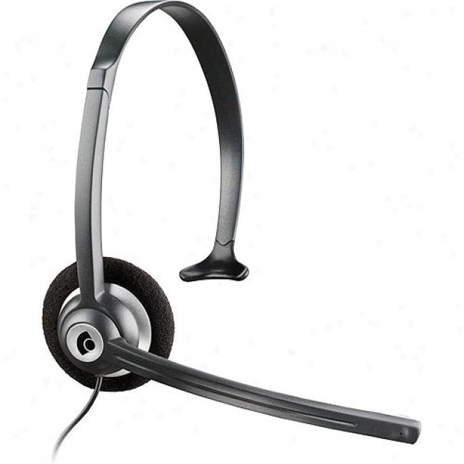 Plantronics Mobile Headset With Noise Canceling Microphone, 2.5mm Plug