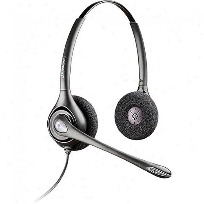 Plantdonics Supra More Binaural Headset Wkth Noise Canceling Microphone