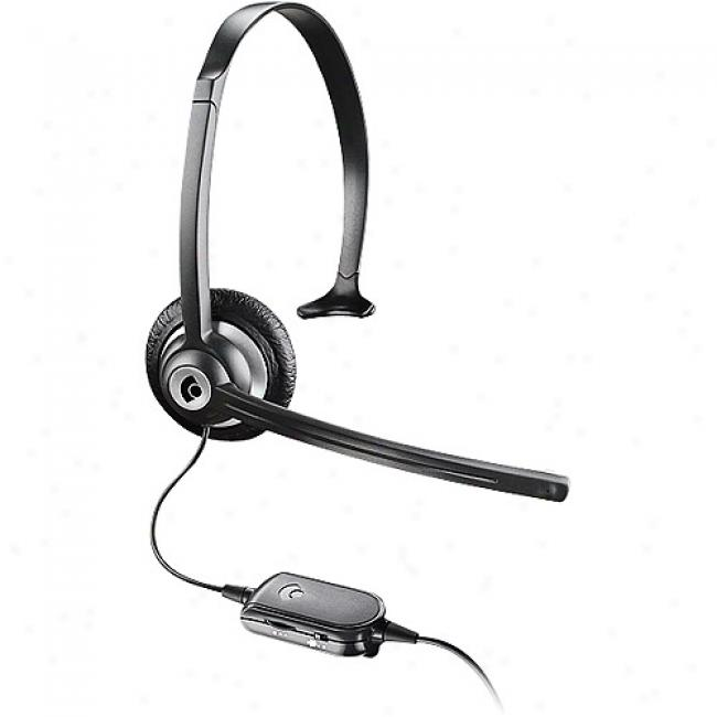 Plantronics Voip Mobile Headset With In-line Volume Control - With Usb Adapter