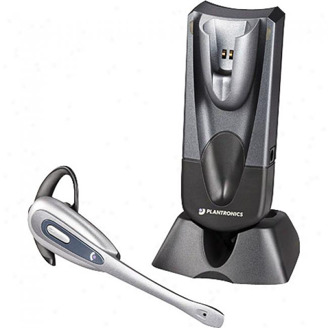 Plantronics Voip Wireless Headset With Noise Canceling Microphone