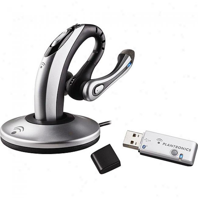 Plantronics Voyager 510 Bluetooth Voip Headset With Usb Adapter