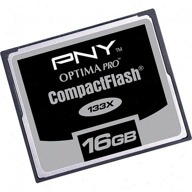 Pny Optima Pro 16gb High-speed 133x Com;actflash Memory Card