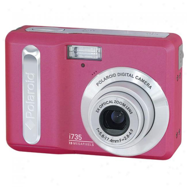 Polaroid I735 Pink ~ 7 Mp Digital Camera