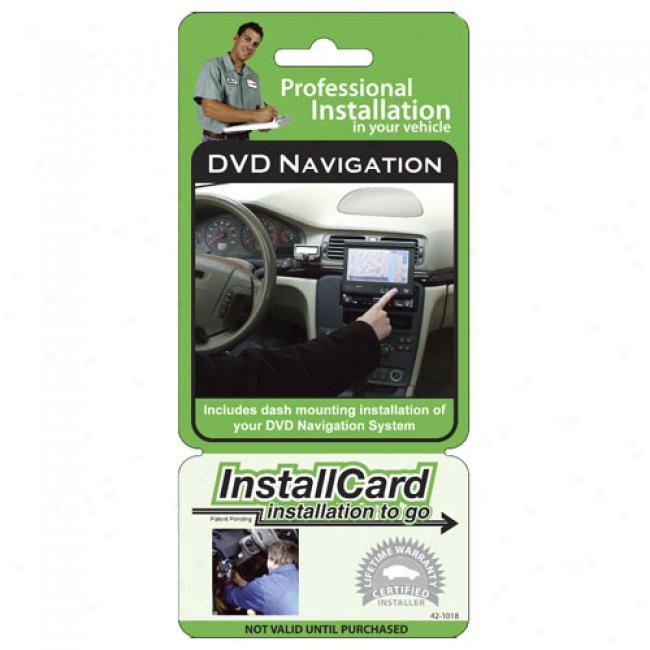Prepaid Professional Install Card - Dash Dvd Navigation System