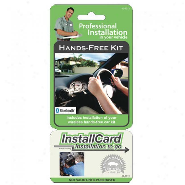 Prepaid Professional Install Card - Hands-free Car Kit W/ Bluetooth