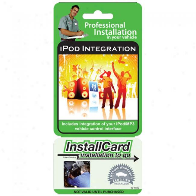 Prepaid Professional Install Card - Ipod/mp3 Mount And Integration