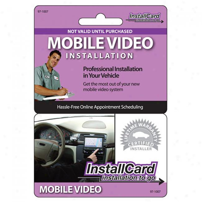 Prepaid Professional Install Card - Mobile Video/dvd Player