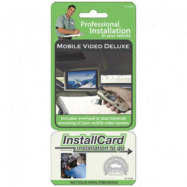Prepaid Professional Install Card - Overhead Or Headrest Video