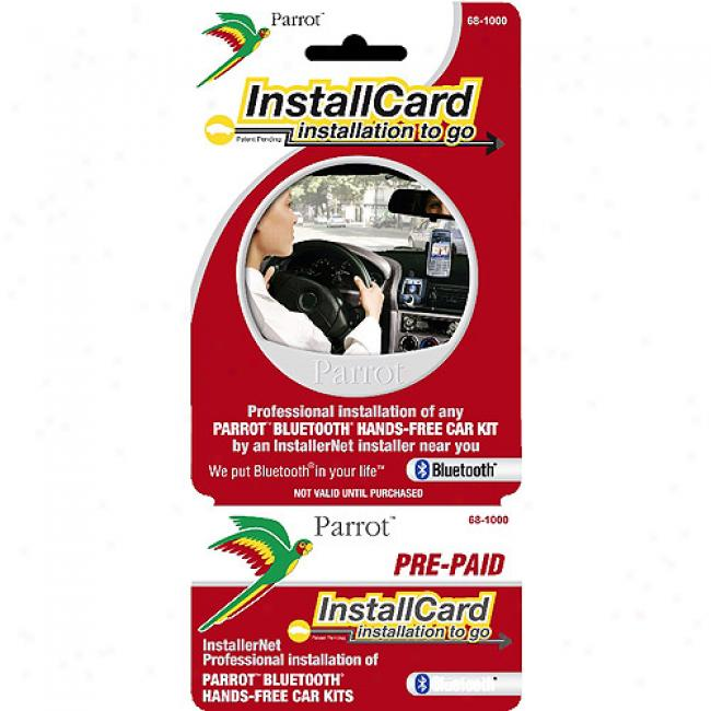 Prepaid Pro fessional Install Card - Parrot Bluetooth Car Kit