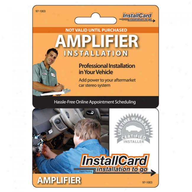 Prepaid Professional Installation - Amplifier/equalizer