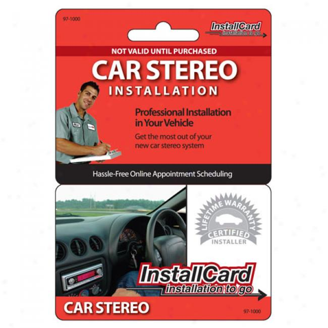 Preppaid Professional Installation - Car Stereo