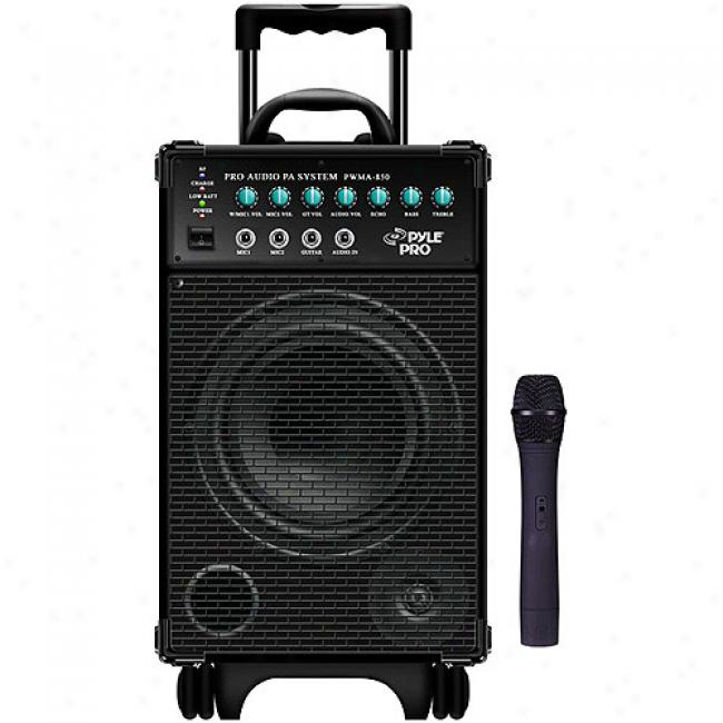 Pyle 300-watt Battery Powered Pa System With Wireless Microphone