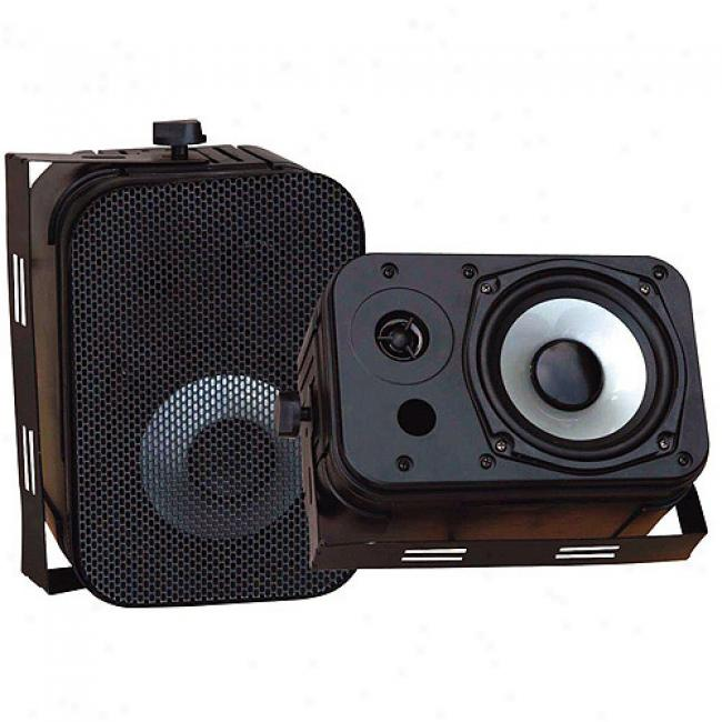 Pyle 5.25'' Indoor/outdoor Waterproof Speakers, Black, Pair