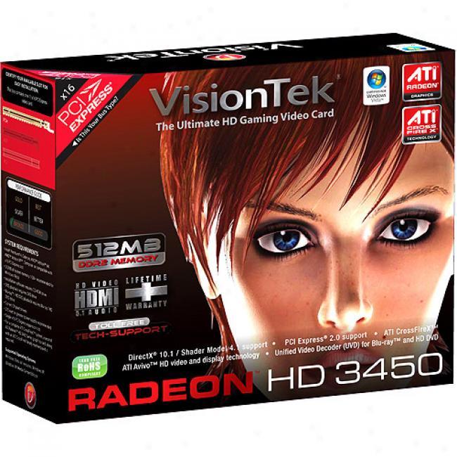 Radeon Hd 3450 512mb Pcie Graphics Card
