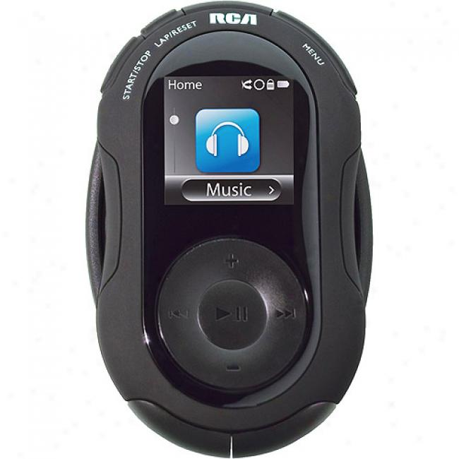 Rca 4gb Black Jet Sport Mp3 Player Through  Armband