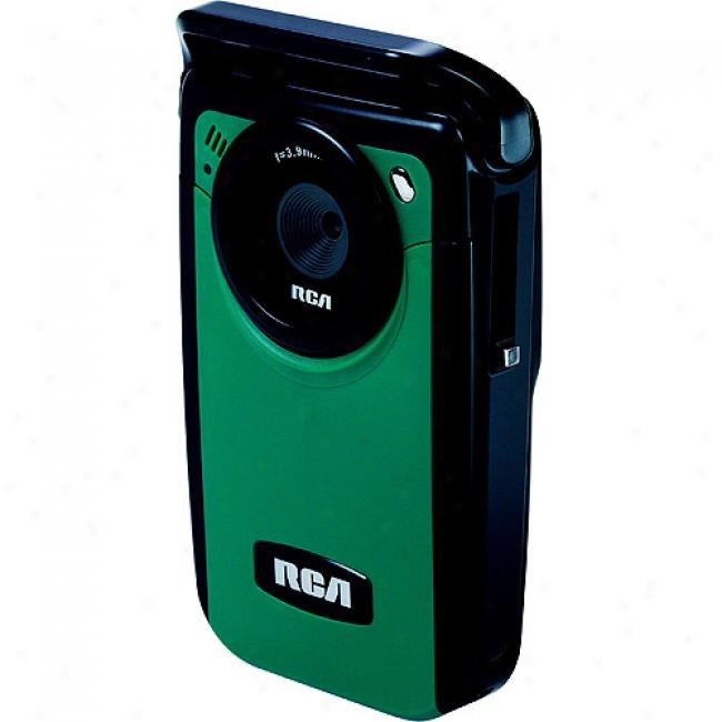 Rca Ez210 Green Small Wonder Digital Camcorder; 2gb Fame Card Included;