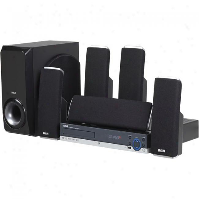 Rca Home Theater Audio System W/ Upconverting Dvd Player, Black
