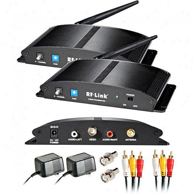 Rf Link 5.8ghz Wireless 8-channel Indoor Audio/video System