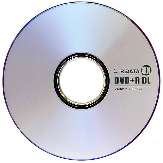Ridata Dvd+r Double-layer Discs, 25-pack