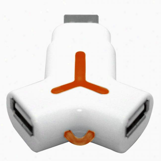 Ridata Yego 4gb Usb Momentary blaze Ezdrive & 2 Port Usb Hub, Orange