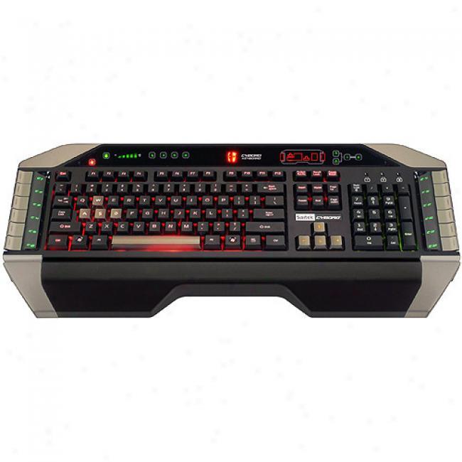 Saitek Cyborg High-end Adjustable Gaming Keyboard With Tri-color Backlightung