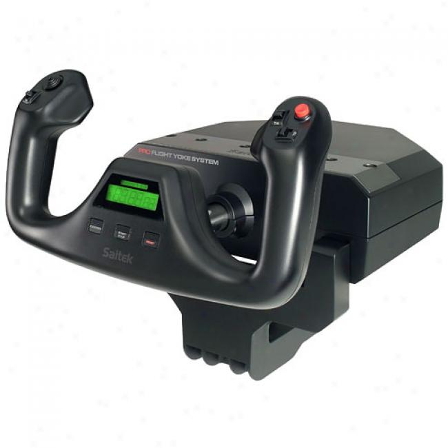 Saitek Pz44 Pro Flight Yoke System Game Controller
